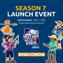 Join us at Anaconda this Saturday 2nd October to celebrate the launch of Million Dollar Fish Season 7!