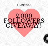 2,000 FOLLOWERS GIVEAWAY!